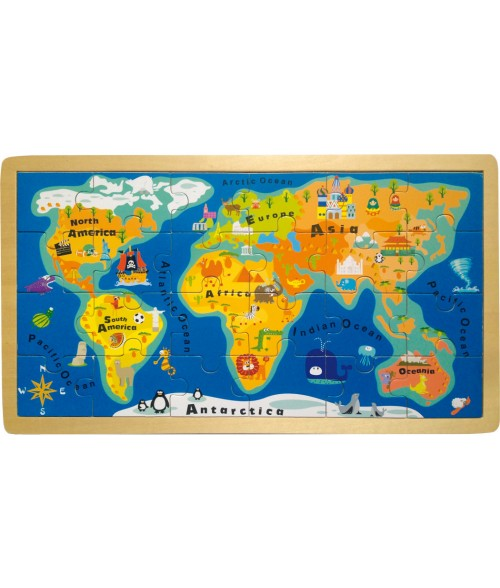 """Dėlionė """"Pasaulio žemėlapis"""""""