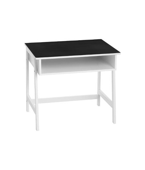 Rašomasis stalas juodos lentos paviršiumi