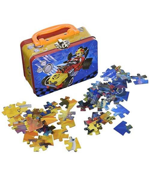 """Disney """"Lenktynininkas Mikis"""" dėlionė metaliniame lagaminėlyje"""