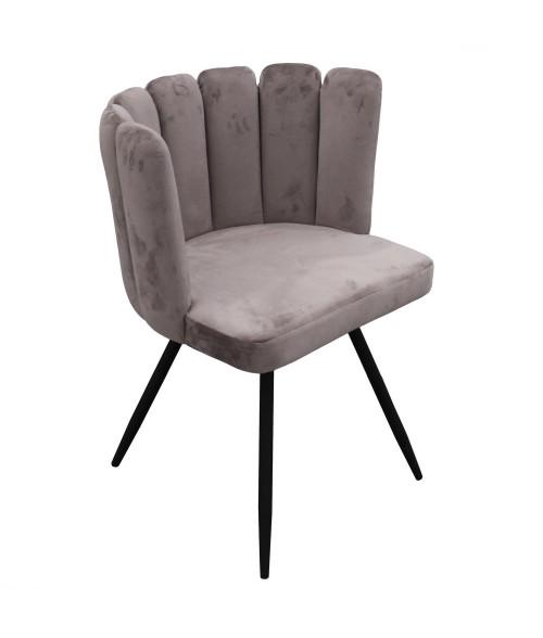 """Veliūrinis pilkas fotelis """"Ariel"""""""