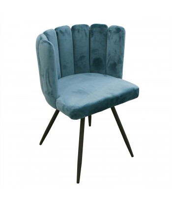 Veliūrinis Mėlynas Fotelis...