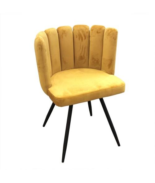 """Veliūrinis geltonas fotelis """"Ariel"""""""
