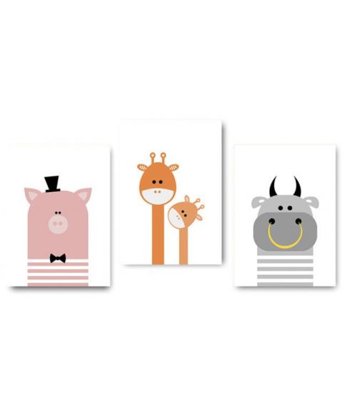 """Reprodukcija """"Animaciniai gyvūnai"""" 21x30cm (A4)"""