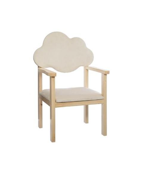 """Natūralaus medžio vaikiškas krėslas """"Debesėlis"""" 40x33x62cm"""