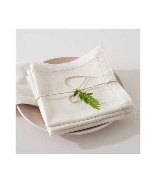 Baltos medvilninės stalo servetėlės 40x40cm (4vnt)
