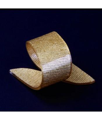 Akrilinis aukso spalvos servelėlės žiedas BEAUTY