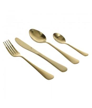 Auksinių stalo įrankių rinkinys 16 dalių