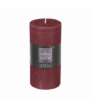 Cilindrinė žvakė 7 x 14cm (tamsiai raudona)
