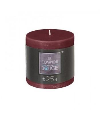 Cilindrinė žvakė 6.7 x 7cm (tamsiai raudona)