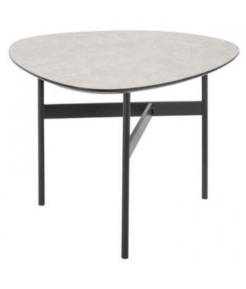 Kavos staliukas pilku akmens imitacijos stalviršiu PETIT L 51x60cm
