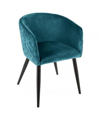 """Valgomojo kėdė """"Marlo"""" (mėlyna) veliūrinė"""