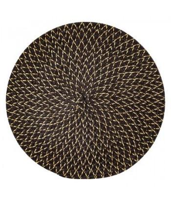 Pintas juodai auksinis stalo padėkliukas IRISE NOIRE 38cm