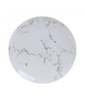 Porcelianinė desertinė lėkštė WHITE MARBLE 19cm