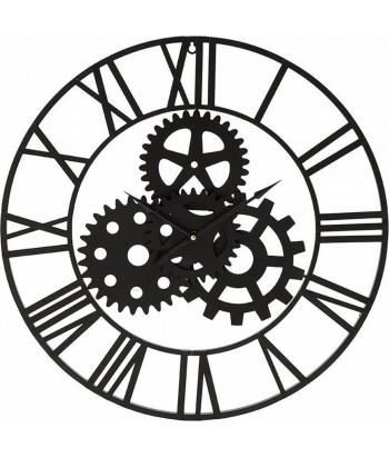 Juodo metalo sieninis laikrodis INDUSTRIAL 60cm