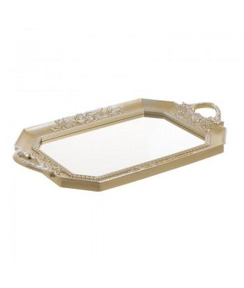 Aukso spalvos klasikinio dizaino veidrodinis padėkliukas 40x25cm