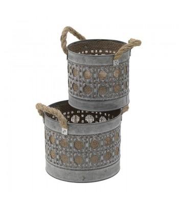 Plieninių vazonų rytieškais motyvais rinkinys (2vnt)