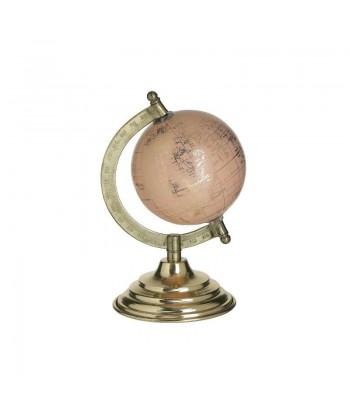 Rožinis gaublys ant aukso spalvos stovo 17cm
