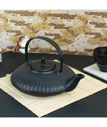 Japoniško stiliaus juodas keramikinis arbatinukas CHAN 21.7x14.5cm