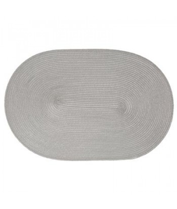 Pintas pilkas ovalus padėkliukas 29.5x44.5cm