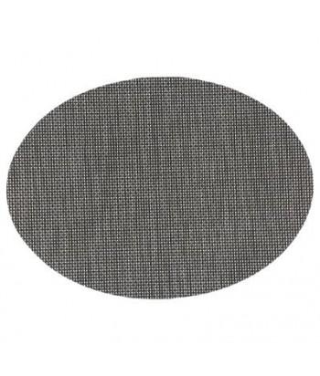 Juodas skylėtas stalo padėkliukas 48x35cm