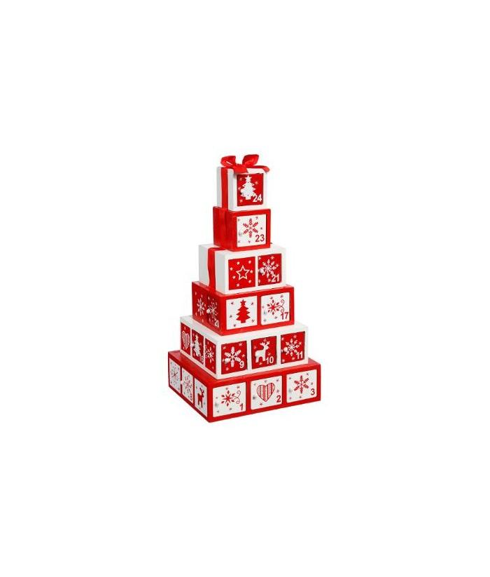 Medinis Advento kalendorius GIFT BOXES 35cm