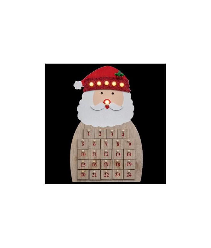 LED Medinis advento kalendorius SANTA 40.5cm