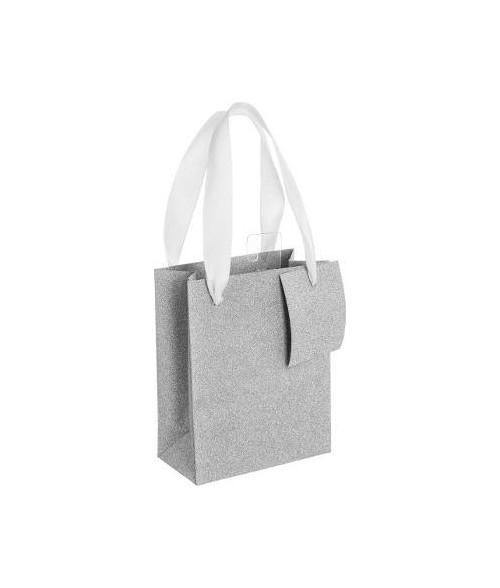 Sidabrinis blizgantis dovanų maišelis L 45x33x10cm