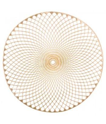Auksinis skylėtas stalo padėkliukas 38cm