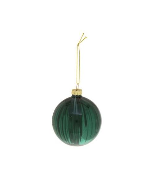Stiklinė eglutės dekoracija STRIE 8cm