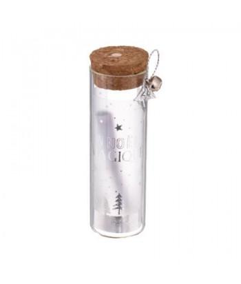 Stiklinis buteliukas su kamšteliu 12cm