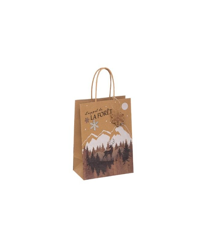 Kraftinio popieriaus Kalėdinis dovanų maišelis L 33x10.2x45.5cm