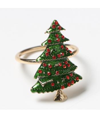 Metalinis aukso spalvos servetėlės žiedas CHRISTMAS TREE