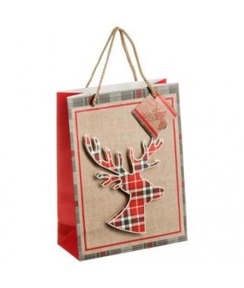 """Dovanų maišelis """"Škotiškas briedis"""" L Dydis"""