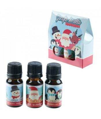 """Kalėdinis eterinių aliejų rinkinys """"Jingle Smells""""(3vnt. cinamonas, karštas vynas, kalėdiniai sausainiai) 10ml"""
