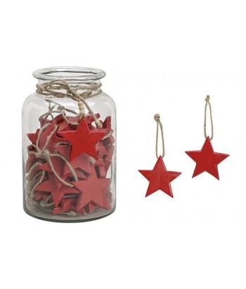 Medinė eglutės dekoracija RED STAR 8cm
