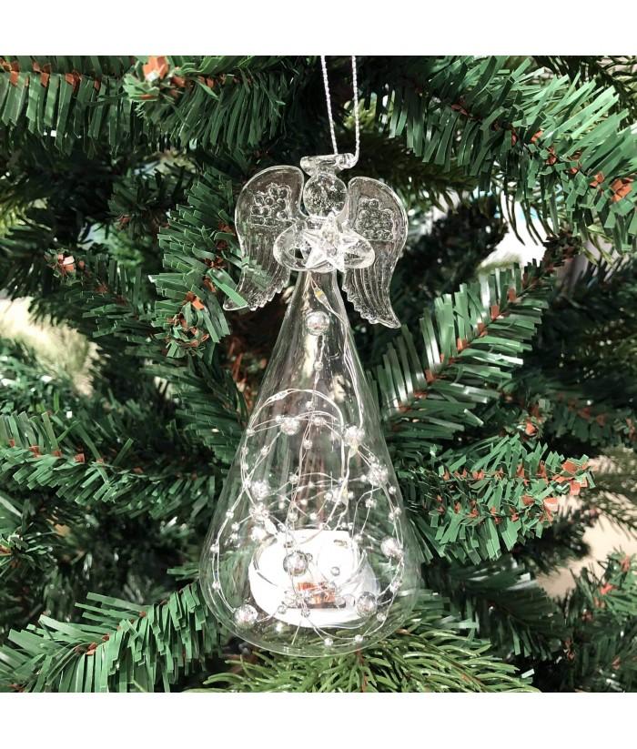 Eglutės dekoracija Stiklinis LED ANGELAS 15x7cm