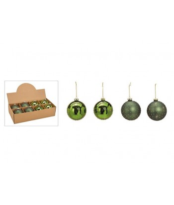 Eglutės dekoracija GREEN GOLD BALL 10cm