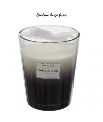 Žvakė stikliniame inde LINEN FRAGRANCE 16cm