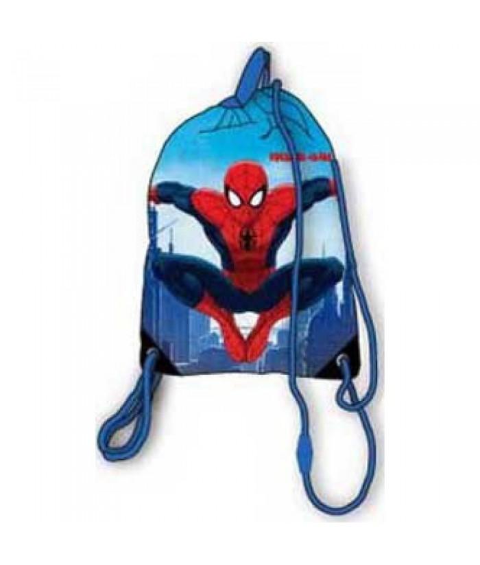 Spiderman sportinis maišelis aprangai (Mėlynas).  Matmenys: 37.5 x 31.5 cm. kuprinė