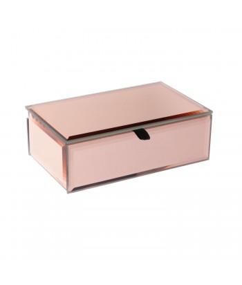 Vario spalvos veidrodinė bižuterijos dėžutė COPPER 16x9.5cm