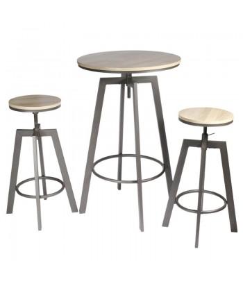 Metalinis baro stalas su dvejomis kėdėmis MANGE