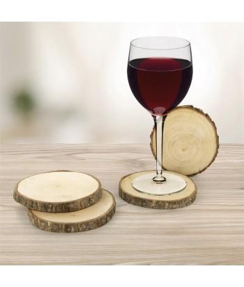 Mediniai gėrimų padėkliukai BOIS 11cm (4 vnt)