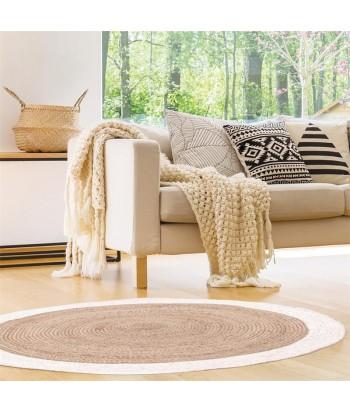 Apvalus džiuto kilimėlis JUTE BORD BLANC 120cm