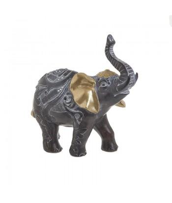Rudas / auksinis dekoratyvinis dramblys 18cm