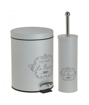 Smėlio spalvos vonios rinkinys LE BAIN (WC šepetys ir šiukšliadėžė)
