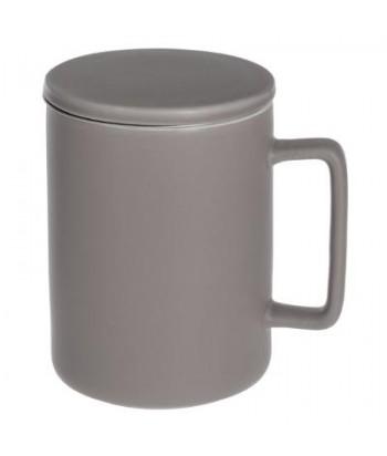 Porcelianinis arbatos puodelis su tinkleliu NATURE TAUPE 400ml