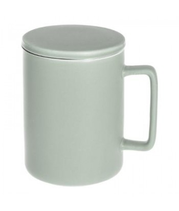 Porcelianinis arbatos puodelis su tinkleliu NATURE MINT 400ml