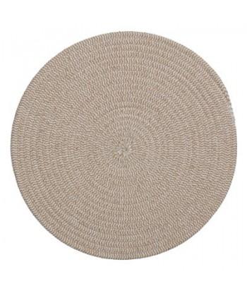 Medvilninis rusvas pintas stalo padėkliukas 38cm