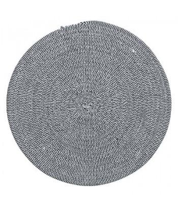 Medvilninis pilkšvas pintas stalo padėkliukas 38cm