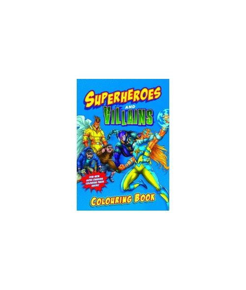 Superheroes & Villians spalvinimo knygelė